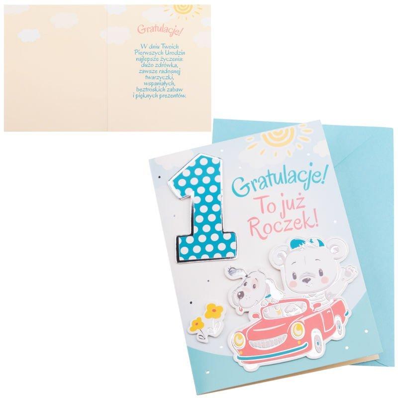 Kartka na 1 Urodziny - To już roczek dla Chłopca