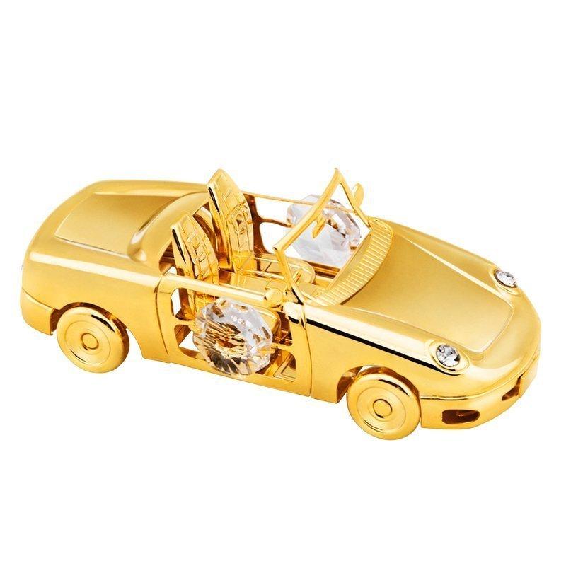 Auto Swarovski pamiątka na chrzest roczek