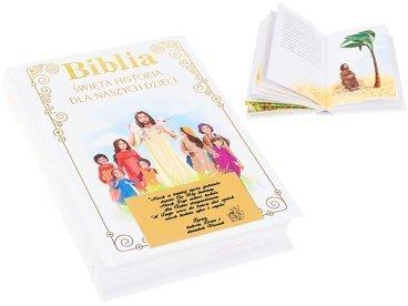 Biblia Pamiątka na Chrzest. Święta historia dla naszych dzieci z dedykacją