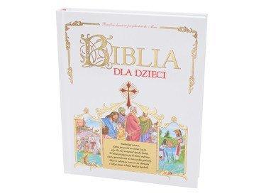 Biblia dla Dzieci z grawerem. Pamiątka na Chrzest Komunię DEDYKACJA