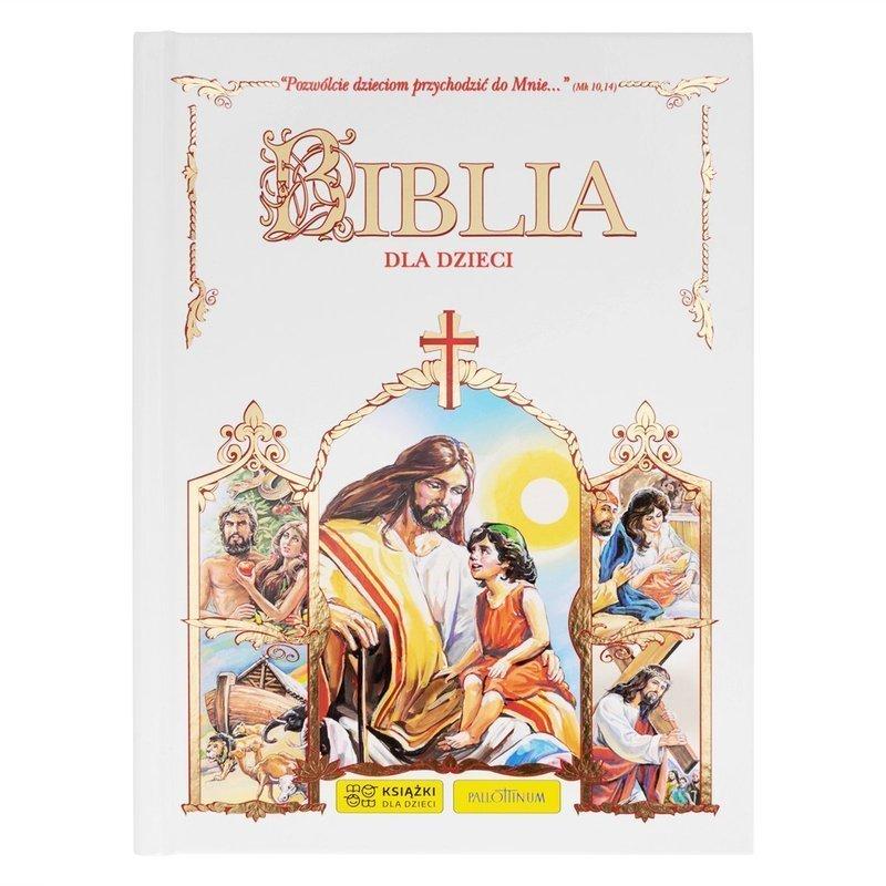 Biblia na Chrzest Komunie dla Dzieci Dedykacja