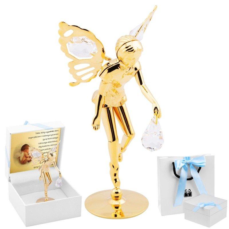 Elf z kryształami Swarovskiego dla Chłopca Dedykacja