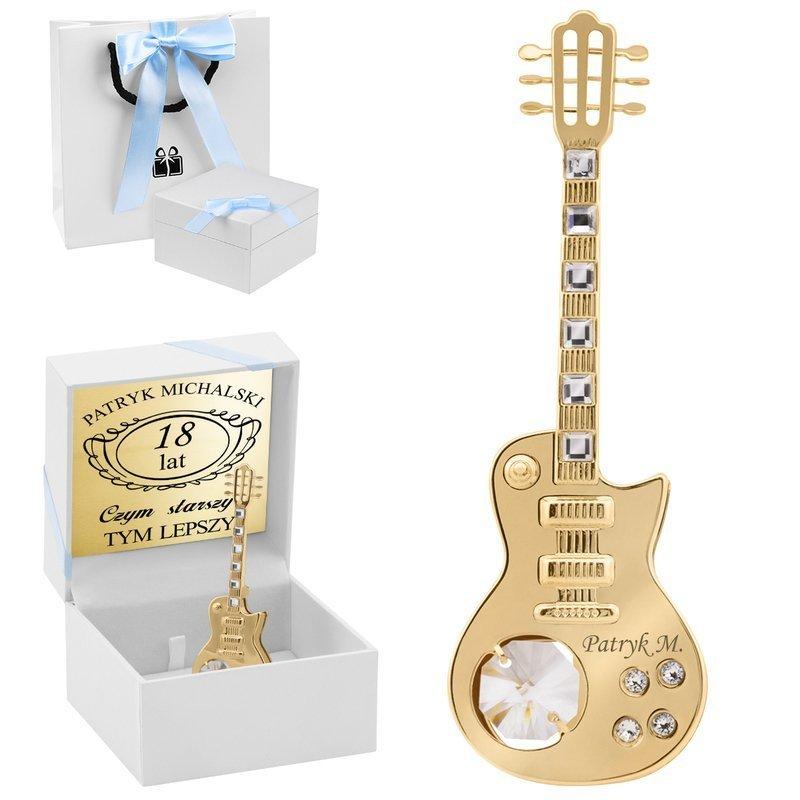 Figurka Gitara Swarovski Prezent z Dedykacją