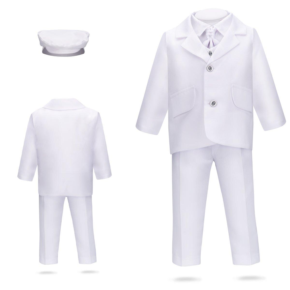 Garnitur na chrzest do chrztu biały dla chłopca