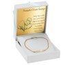 Bransoletka łańcuszek z blaszką złoto 585 z regulacją z Grawerem 2