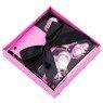 Pudełko na prezent czarne w różowe serca XS  2