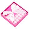 Pudełko na prezent różowa kratka XS 3