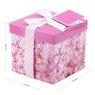 Pudełko na prezent różowe kwiaty S 2