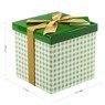 Pudełko na prezent zielona kratka M+ 2