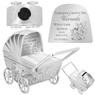 Skarbonka dla dziecka wózek - prezent na Chrzest, Baby Shower, Roczek | z Grawerem 1