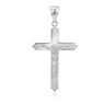 Srebrny 925 Sam Krzyżyk Chrzest Komunia Grawer