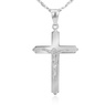 Srebrny Krzyżyk pr. 925 Chrzest Komunia Grawer 3