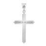 Srebrny duży krzyżyk z Jezusem / na I Komunię Św. / Chrzest Św. / pr. 925 / z Grawerem 4