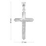 Srebrny duży krzyżyk z Jezusem / na I Komunię Św. / Chrzest Św. / pr. 925 / z Grawerem 6