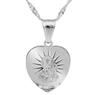 Srebrny medalik z Matką Boską Częstochowską z łańcuszkiem / serce / pr. 925 / z Grawerem i Dedykacją 3