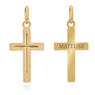 Złoty krzyżyk / pr. 585 / prezent na Chrzest Św., I Komunię Św., Bierzmowanie / z Grawerem