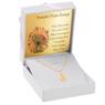 Złoty medalik Matka Boska z łańcuszkiem Dedykacja 2