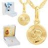 Złoty medalik Pan Jezus próba 585 Grawer 1
