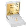 Złoty medalik okrągły Madonna pr. 585 Grawer Dedykacja 7