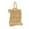 Złoty medalik pr. 585 Matka Boska z Małym Jezusem Chrzest Komunia Grawer 4