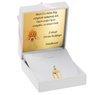 Złoty medalik z Jezusem Chrystusem pr. 585 Grawer 2