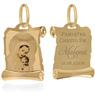 Złoty medalik z Matką Boską i Dzieciątkiem w kolorze z Grawerem / na Chrzest / I Komunię Św. / pr. 585 1