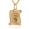 Złoty medalik z łańcuszkiem pr. 585 Matka Boska z Małym Jezusem Chrzest Komunia z Grawerem 2