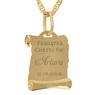 Złoty medalik z łańcuszkiem pr. 585 Matka Boska z Małym Jezusem Chrzest Komunia z Grawerem 9