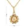 Złoty medalik z łańcuszkiem próba 585 z wizerunkiem Matki Boskiej Chrzest Komunia Bierzmowanie GRAWER niebieska kokardka 9