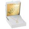 Złoty wisiorek anioł z łańcuszkiem pr. 585 na chrzest komunię Dedykacja 2
